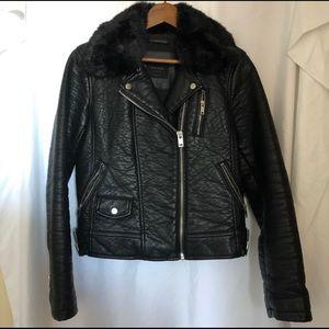 SOLD Zara Faux Fur (detachable) Leather Jacket